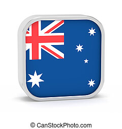 Australia flag sign. - Australia flag sign on a white...