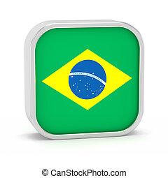 Brazil flag sign - Brazil flag sign on a white background...