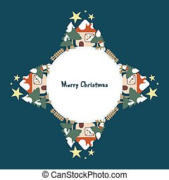 Christmas decorations - Background with Christmas...