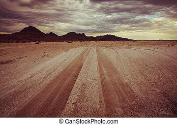 desierto, camino