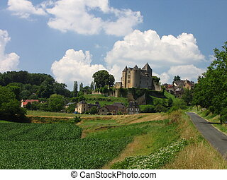 Village, Salignac, Castle - At the border of Limousin and...