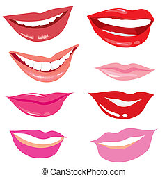 smiling lips - set of smiling lips
