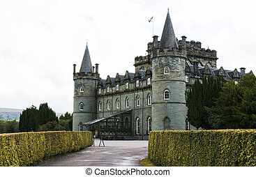 Inveraray Castle, Inveraray, Argyle, Scotland. 28th August...