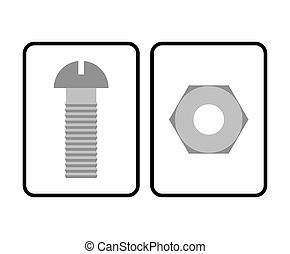 Man and Woman restroom sign. Toilet sign bolt and nut....