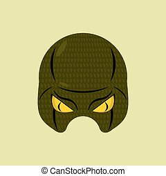 SuperHero mask snake. Reptile protective mask for person....
