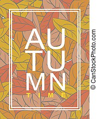Autumn time. Golden foliage. Vector illustration wilted...