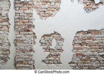 The moldy old brick wall, abstract background