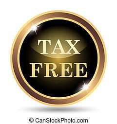 Tax free icon Internet button on white background