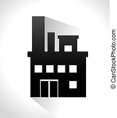 Factory and industry plant equipment design, vector...
