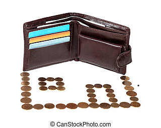 mortgage - metaphor of mortgage - brown wallet with cards...
