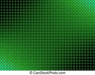 Abstract Background. Green Circles.