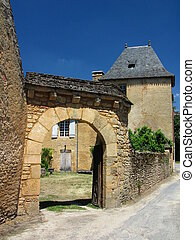 door, Saint Genies, Street, House, Village - At the border...