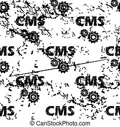CMS settings pattern, grunge, monochrome - CMS settings...