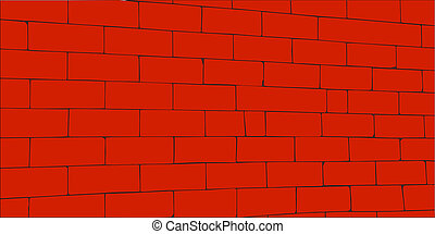 Egypt wall - Wall of big red blocks