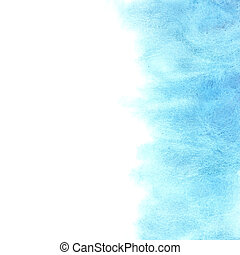 Blue watercolor background with space for your own text
