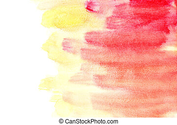 Orange - red watercolor background - Yellow - red watercolor...