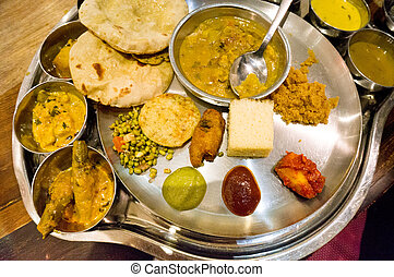 North indian cuisine - Set of north indian delicacies spread...
