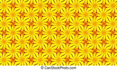 yellow abstract background, flowers