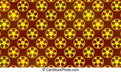 red abstract background, gold