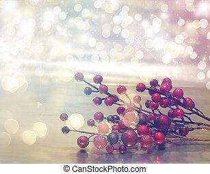 retro, verkan, bakgrund, jul