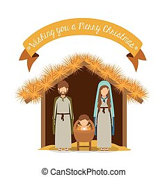Merry Christmas design - Merry Christmas concept about holy...