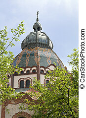 Synagogue in Subotica - The top of Synagogue in Subotica...