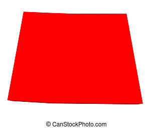Colorado 3d Red USA State Map