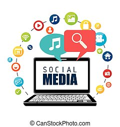 Social media entertainment graphic design