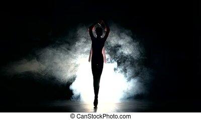 expressive bellet dancer dancing at studio - Beautiful...
