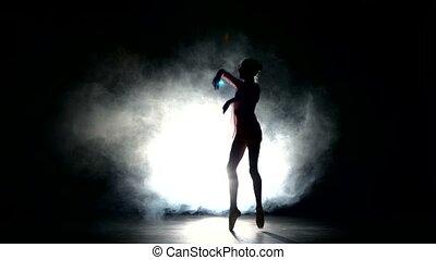 bellet dancer dancing at studio - Beautiful expressive...