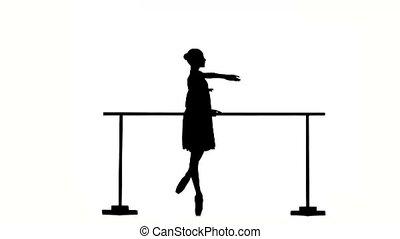 bellet dancer dancing at studio silhouette - Beautiful...