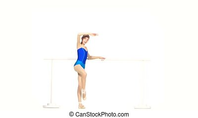 ballet dancer isolated on white - beautiful woman ballet...