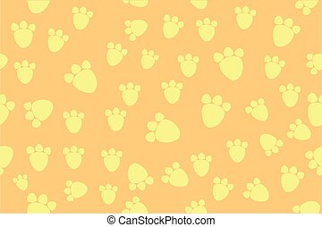 Background - Animal Foot Print - vector Background - Animal...