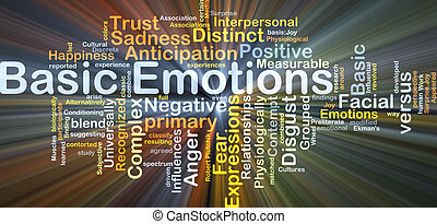Basic emotions background concept glowing - Background...