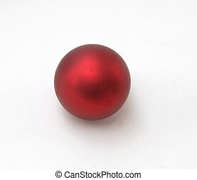 red ball shape ornament isolated at white background...
