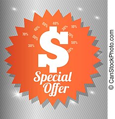 Special offer design - Special offer concept label with sale...