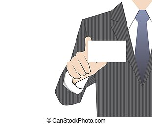 Man showing business card,vector