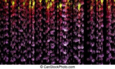 curtain circles abstract 4k
