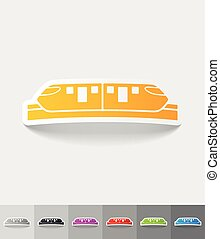 realistic design element monorail train - monorail train...