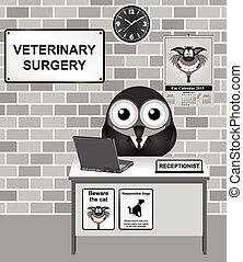 Veterinary Surgery - Comical bird Veterinary Surgery...
