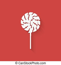 Lollipop icon in flat style