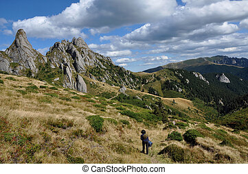 Mountain landscape in the Carpathians
