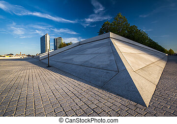 Pyramid at Franklin D. Roosevelt Four Freedoms Park on...
