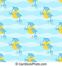 Dolphins seamless