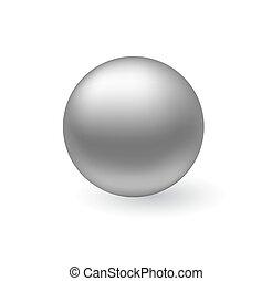 Vector metal sphere