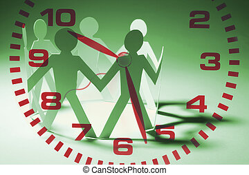 Paper Chain and Clock