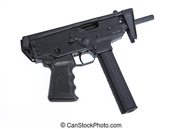 Submachine Gun - Isolated submachine gun