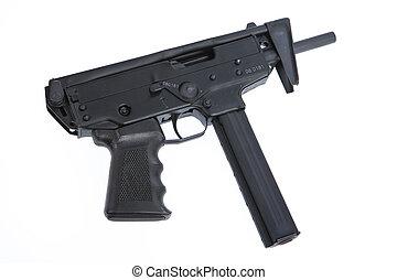 Submachine Gun - Isolated submachine gun