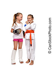 two kid - two karate and muay thai boxing kid