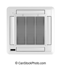 Ceiling mounted air conditioner isolated on white background